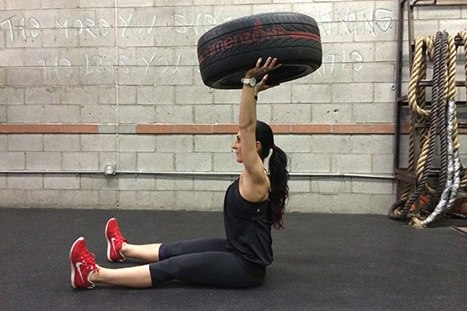 4. Sit-Ups With Tire