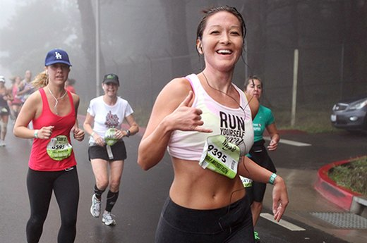 "Tip 2 for Runners: ""Remember the 'Mona Lisa' factor."""