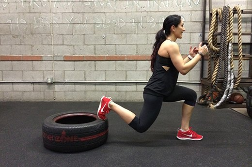 9. Elevated Lunges