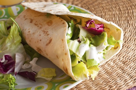 8. Greens, Fruit and Chickpea Wrap