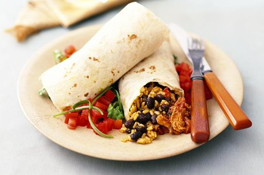 4. Chicken or Bean Burrito with Salsa