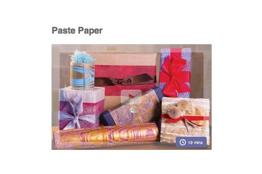 8. MAKE YOUR OWN PASTE PAPER FOR HOLIDAY WRAPPING