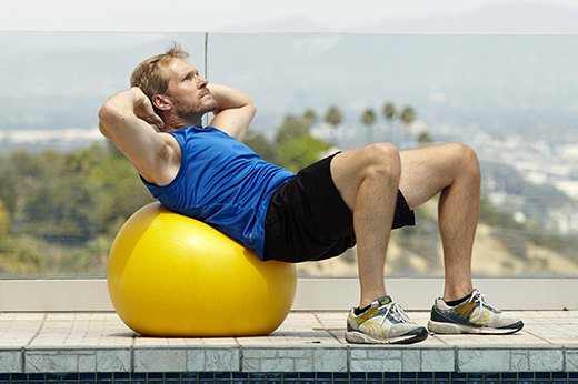 3. Stability-Ball Crunches
