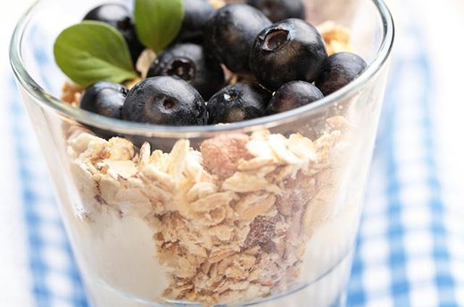 11. Greek Yogurt with Fruit and Oats
