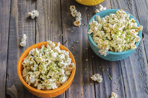 3. Colorful, Butter-Free Popcorn