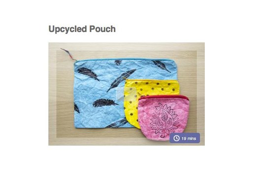 4. MAKE YOUR OWN UPCYCLED POUCH