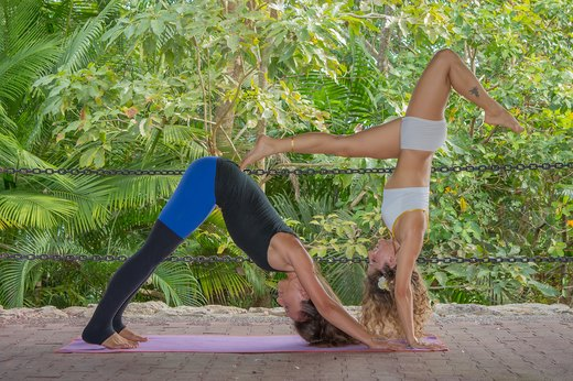 7. Downward Dog With Handstand Variation