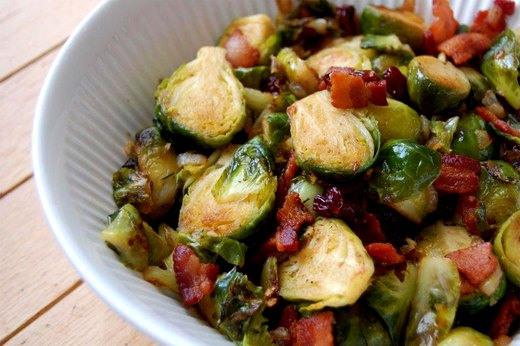 2. Brussels Sprouts With Bacon and Dried Cherries