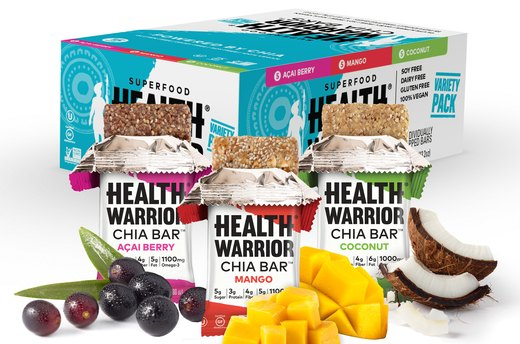 8. LOW-CALORIE: Health Warrior Chia Bar