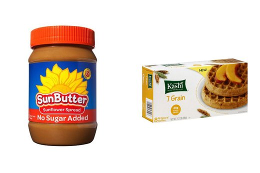 3. Kashi 7-Grain All-Natural Waffles and Sunbutter