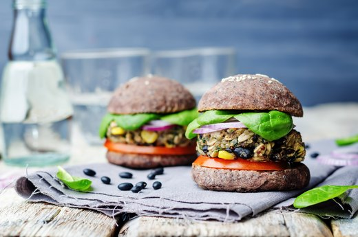 2. Boosted Bean Burgers