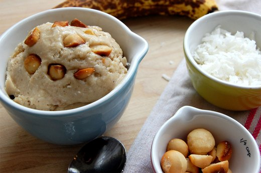 1. Banana, Coconut and Salted Macadamia Nut Ice Cream