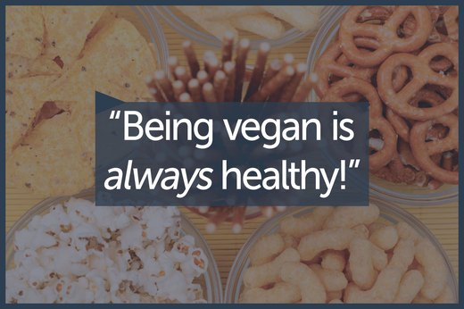 MYTH 1: A Vegan Diet Is Naturally Healthy By Default