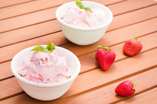 8. Strawberry-Basil Ice Cream