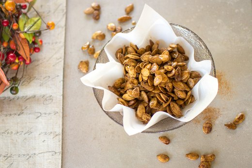 2. Sweet and Spicy Roasted Pumpkin Seeds