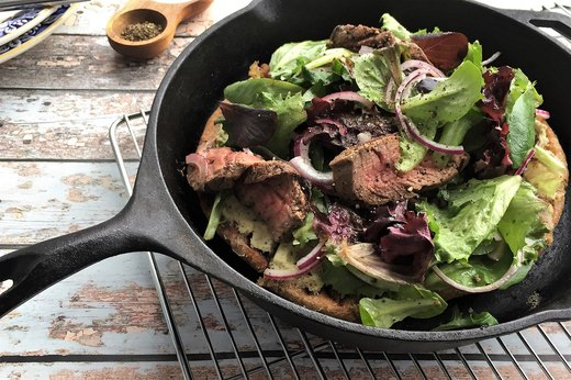 8. Pan-Charred Steakhouse Salad Pizza