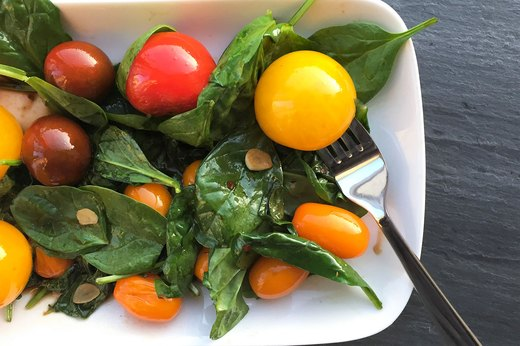 9. Cherry Tomato and Spinach Salad Saute