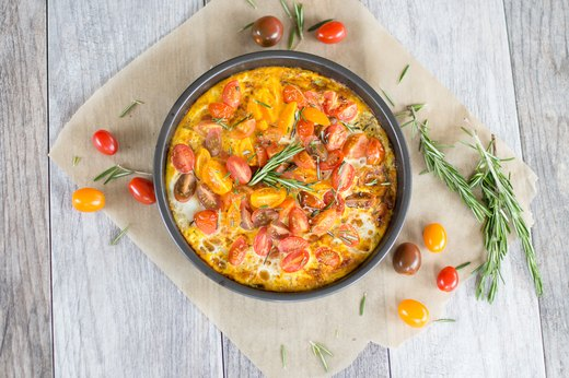 2. Broiled Heirloom Tomato and Rosemary Frittata