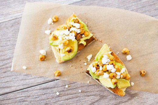2. Crunchy Spiced Chickpea Avocado Toast