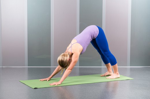 1. Downward-Facing Dog (Adho Mukha Svanasana)