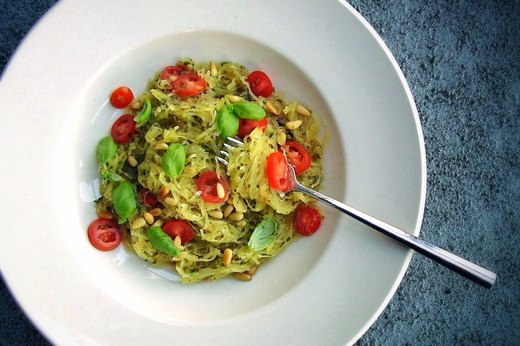 2. Simple Spaghetti Squash With Pesto