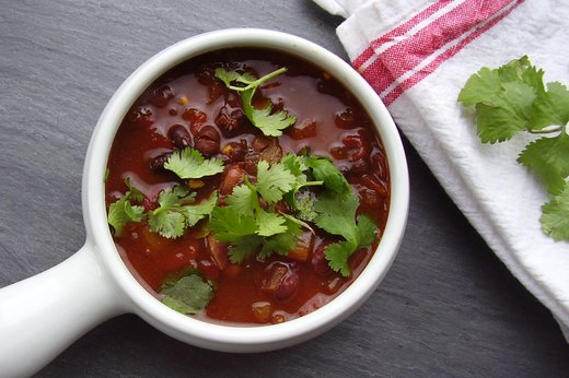 7. Spicy Vegan Game-Day Chili Soup