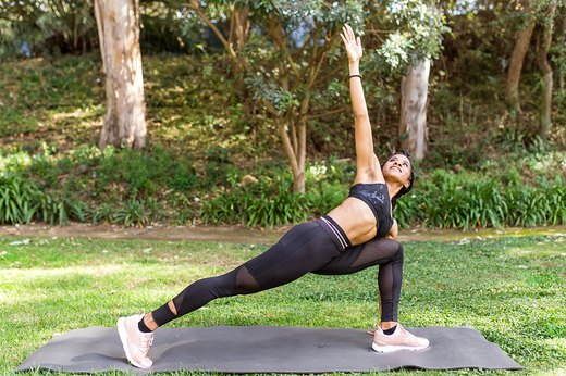 4. Instead of: Standing Spinal Twist, Do: Lunge and Twist