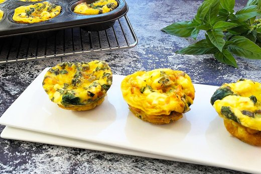 10. Kale and Sweet Potato Baked Frittata Cups