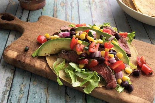 7. Grass-Fed Steak Tacos With Cowgirl Salsa