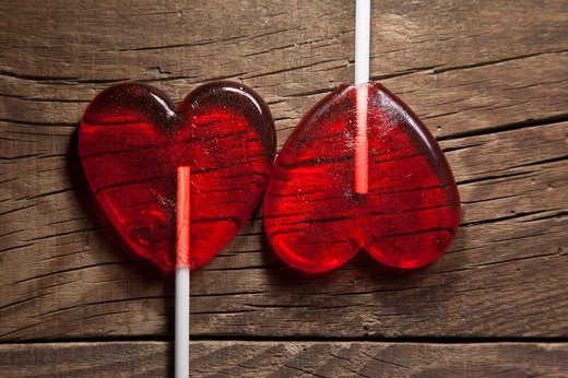2. Red Heart-Shaped Lollipops