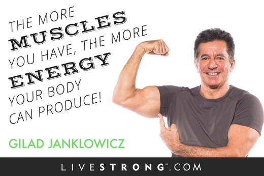"""The more muscles you have, the more energy your body can produce!"""