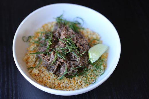 1. Lime and Mint Shredded Instant Pot Lamb