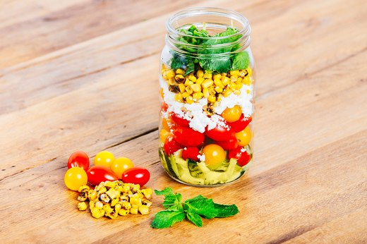 2. Zucchini and Roasted Corn Salad
