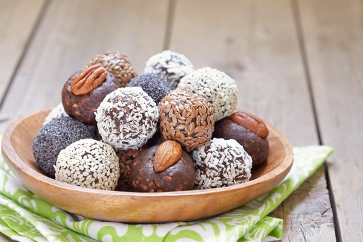 4. Chocolate-Almond Protein Balls