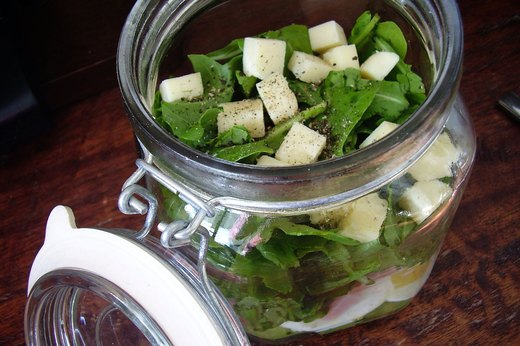 4. Sunrise Chef Salad in a Jar