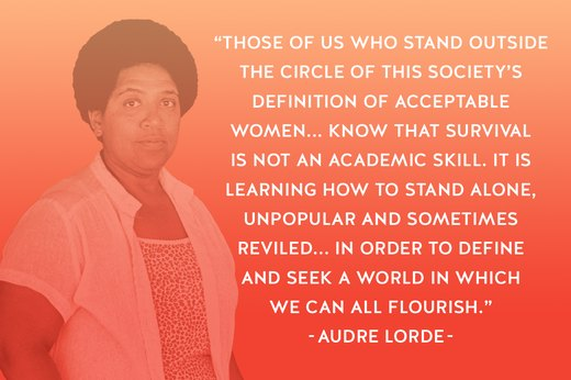 11. Audre Lorde: Writer, Feminist, Civil Rights Activist