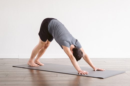 2. Downward-Facing Dog (Adho Mukha Svanasana)