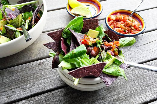 2. Vegan Taco Salad With Skillet Beans
