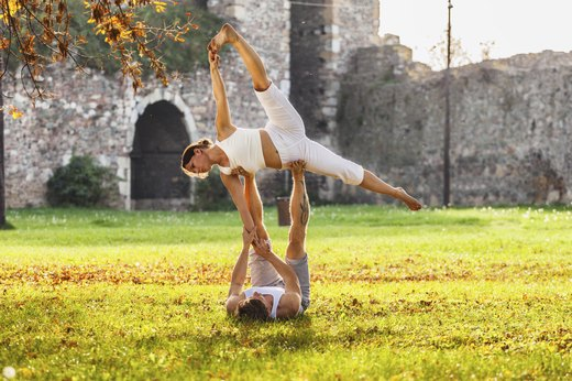 2. Try Partner or AcroYoga