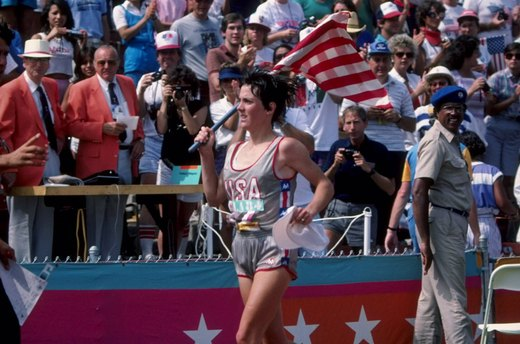 4. Joan Benoit Wins First Women's Olympic Marathon (1984 Los Angeles)
