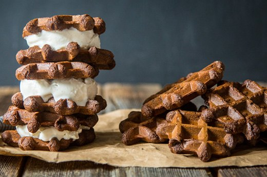 9. Protein Waffle Ice Cream Sandwiches