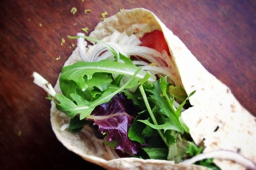 3. Easy Middle Eastern Hummus Wrap