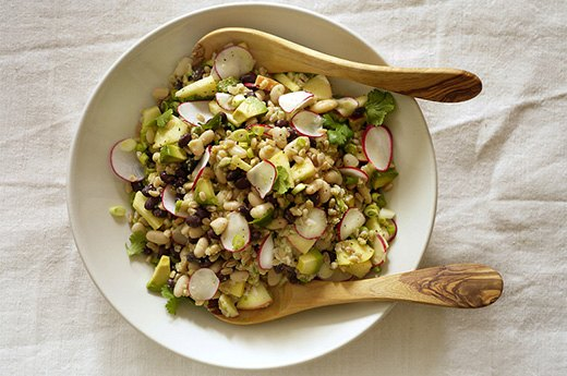 7. Bean and Farro Buddha Bowl With Cilantro-Apple Dressing