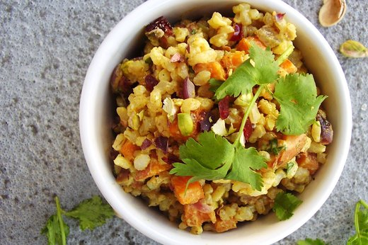 10. Curry Sweet Potato and Rice Salad