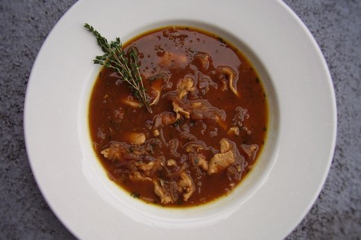 2. Caramelized Red Onion and Chicken Soup