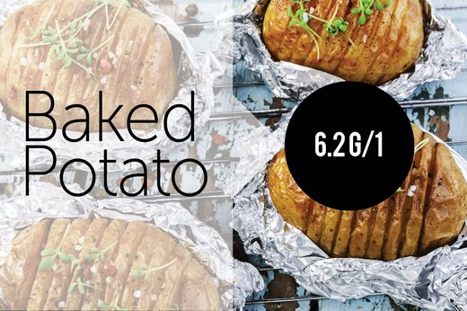 9. Baked Potato (1 large): About 6.28g of Protein