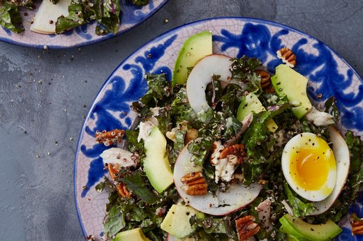 7. Kale and Chicken Caesar BAS With Quinoa and Pecans