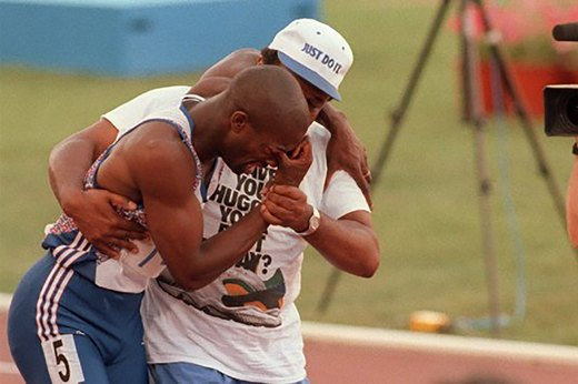 23. Derek Redmond and His Father Finish a 400 (1992 Barcelona)
