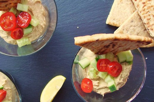 13. Virgin Bloody Mary Hummus With Flatbread