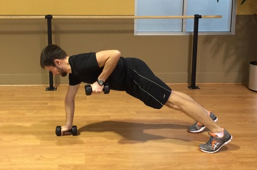 Push-Up Variation #2: Add Weighted Rows